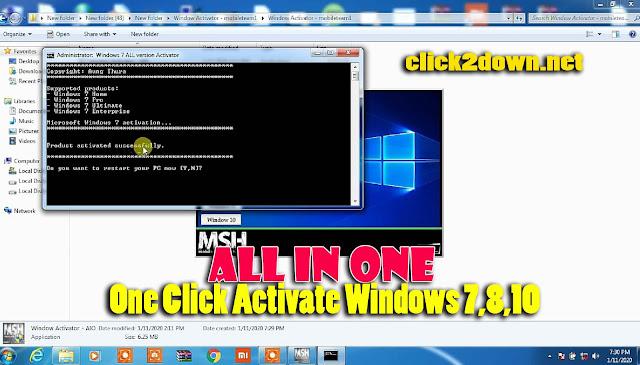 Windows Activator Tool One Click Activate Windows 7, Windows 8, Windows 10