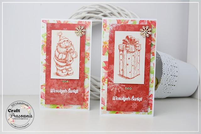 Kartki świąteczne z prostymi grafikami