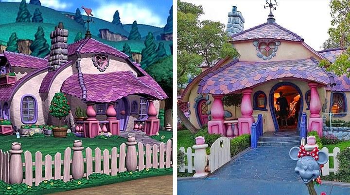 As casas de desenhos animados que realmente existem na vida real