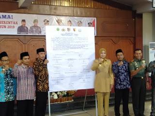 Deklarasi Damai Pilkades Serentak, Bupati Faida Berharap Tidak Ada Perpecahan dan Tetap Jaga Keutuhan