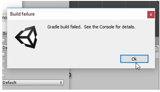 Gradle build failed