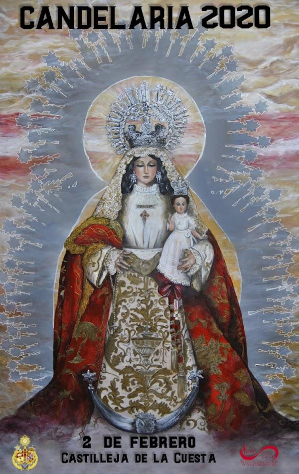 Cartel anunciador de la salida Extraordinaria de Nuestra Señora de la Soledad de Castilleja de la Cuesta
