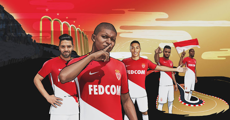 f9197d0315c The new Nike Monaco 17-18 home kit was officially revealed today. Made by  Nike and featuring Fedcom as sponsor, the new Monaco jersey is a fresh  update of ...