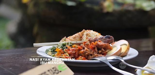 Nasi ayam Kedewetan Bu Mangku