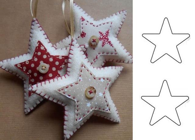 estrella blanca nanualidades navidad en fieltro con molde
