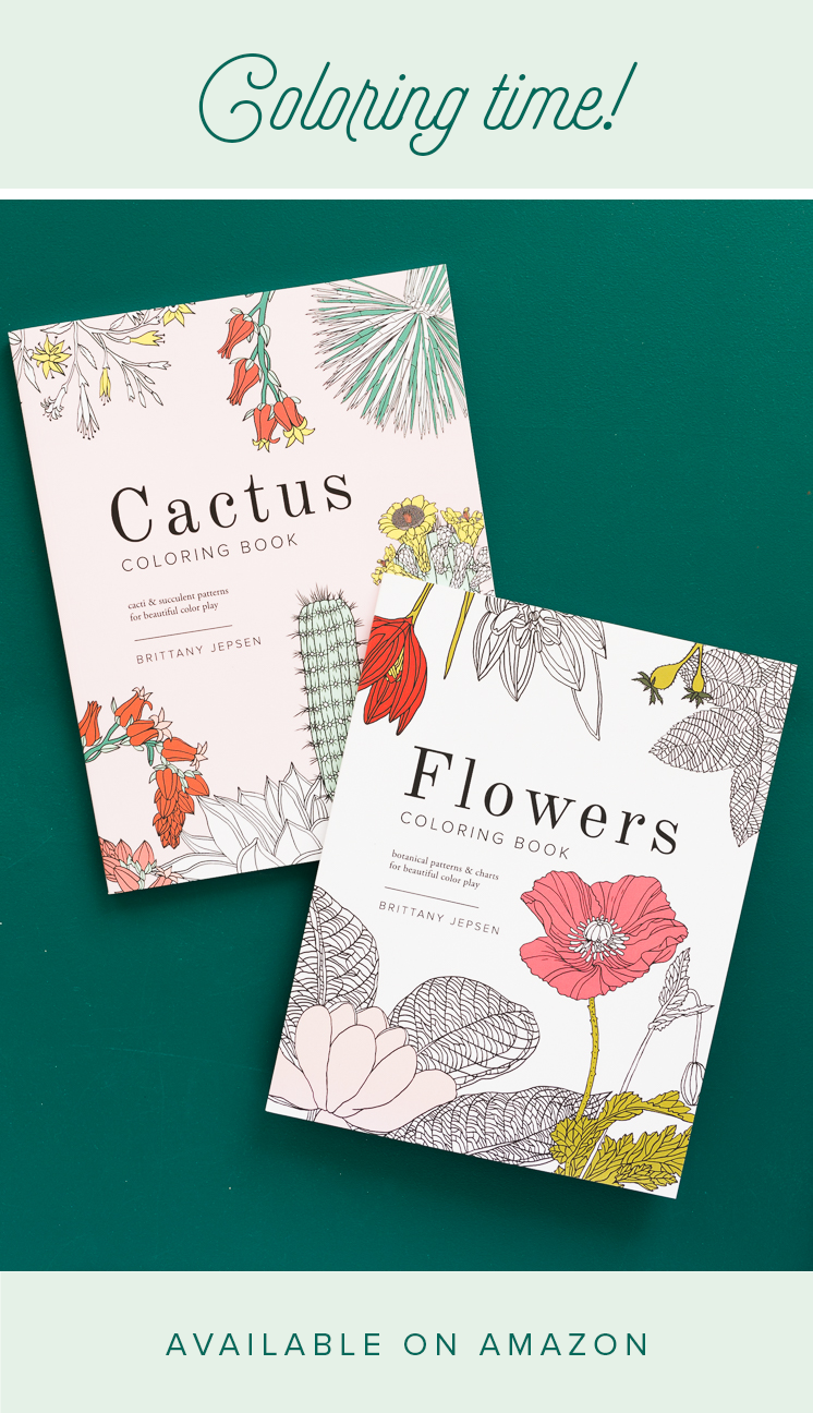 Brittany Watson Jepsen coloring book flowers cactus the house that lars built