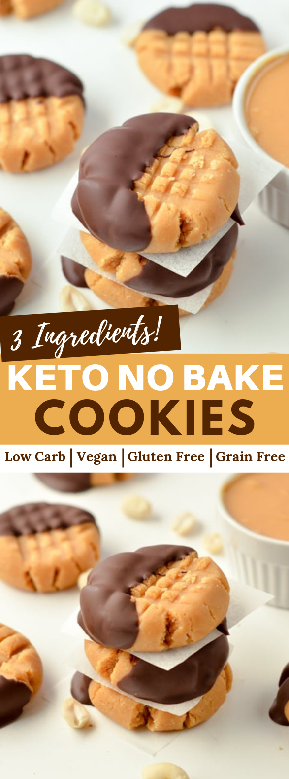 NO BAKE PEANUT BUTTER COOKIES #keto #lowcarb