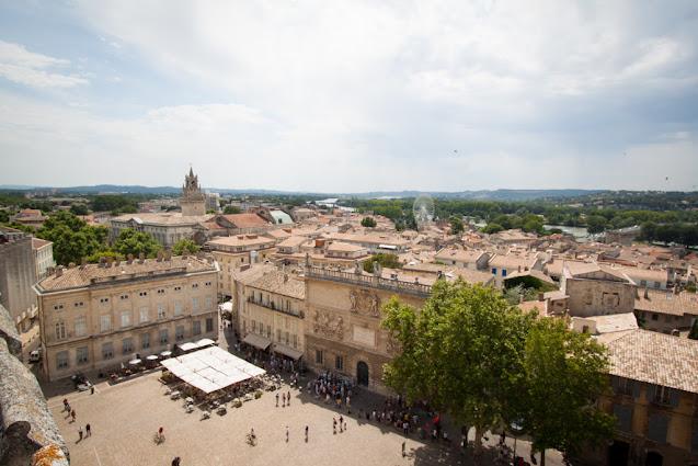Avignone-Panorama dal Palazzo dei Papi