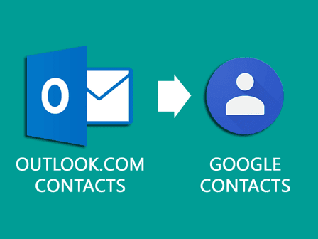 outlook.com to google contacts