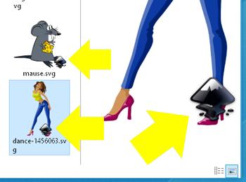 miniatura de un SVG con icono de Inkscape
