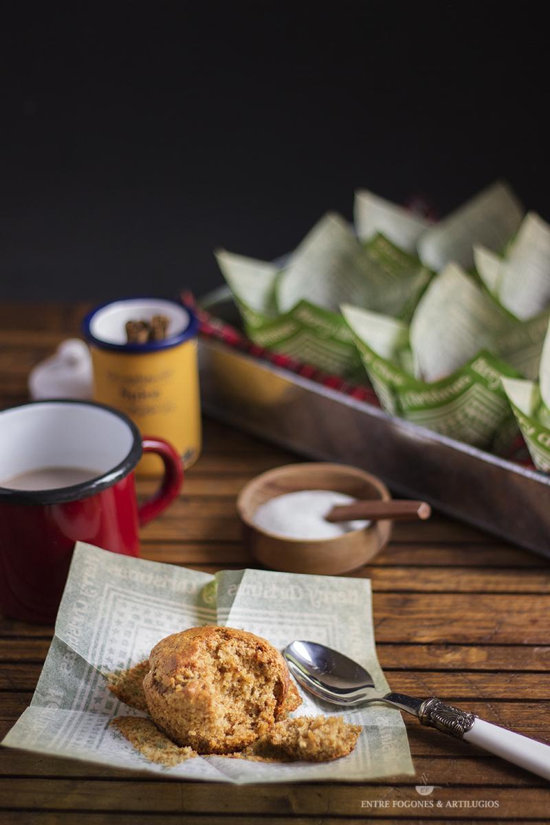 Muffins de jengibre sin gluten