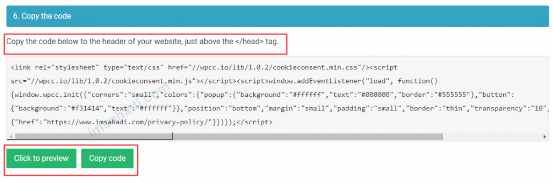 menerapkan kode cookie consent ke blog
