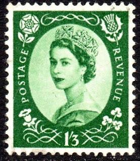 Elizabeth II  1953 Sg 530 1s3d Green Tudor