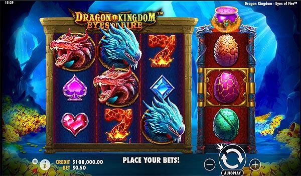 Main Slot Gratis Indonesia - Dragon Kingdom - Eyes of Fire (Pragmatic Play)