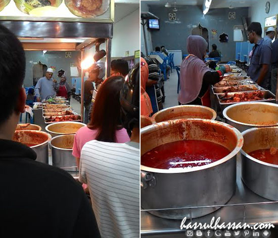 Restoran Nasi Kandar Ali - Nasi Kandar Beratur di Parit Buntar