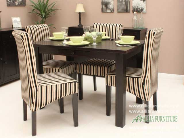 meja kursi makan set minimalis zebra