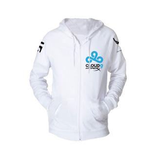 Jaket Jumper Hoodie Gaming Cloud9 white