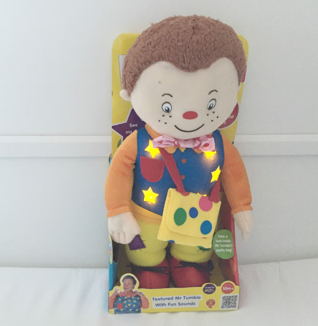 Textured Mr Tumble soft toy from golden bear toys review