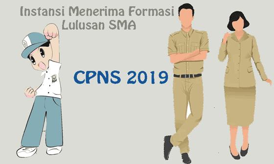 daftar instansi yang menerima formasi cpns lulusan sma