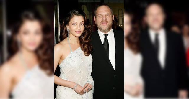 Aishwarya Rai and Harvey Weinstein