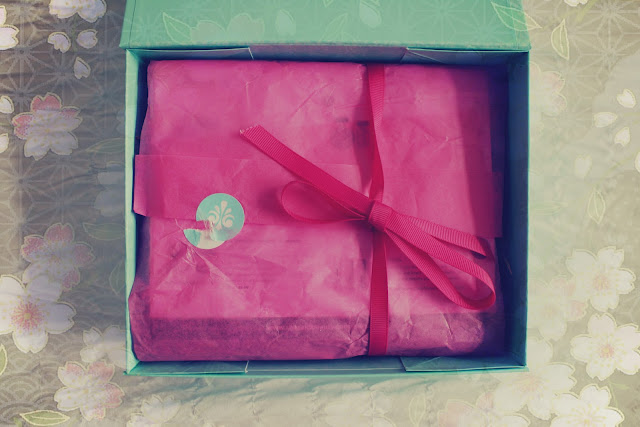 She Said Beauty Box May Edition with pink packaging & ribbon