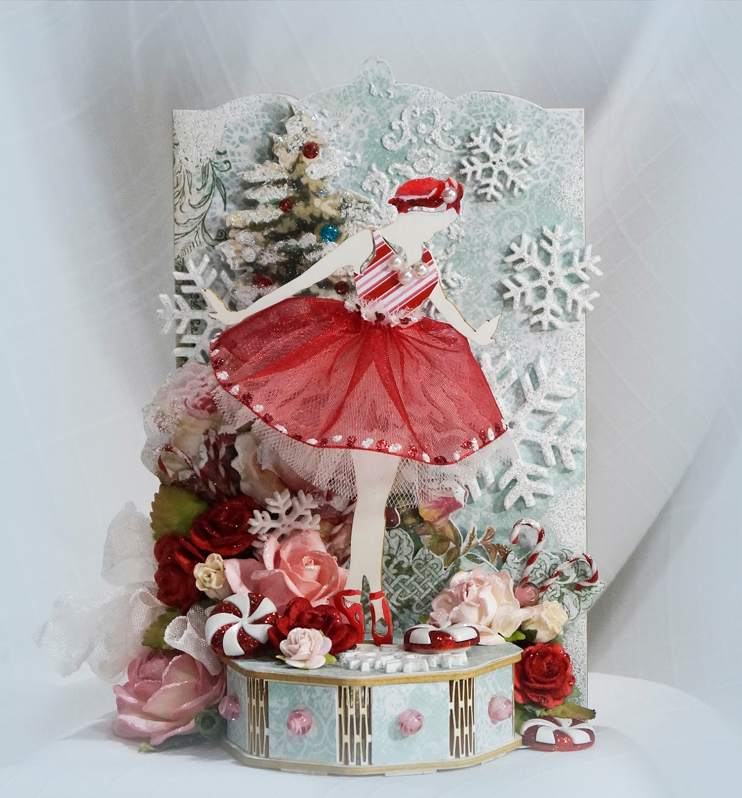 Terrys scrapbooks decorated reneabouquets 3d ballerina chipboard kit i have decorated reneabouquets beautiful board 3d ballerina do it yourself laser cut chipboard kit to look like the sugar plum fairy solutioingenieria