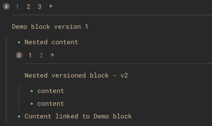 Block versions