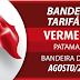 BANDEIRA TARIFÁRIA: Bandeira para o mês de agosto é vermelha patamar 2.