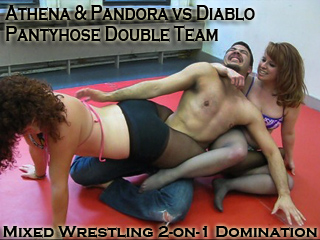 Pantyhose Mixed Wrestle 77