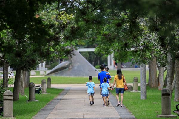 台中都會公園位於大肚山上廣達88公頃的大型綠地公園,踏青好去處
