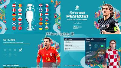 PES 2021 Menu Mod EURO 2020 V2 by PESNewupdate