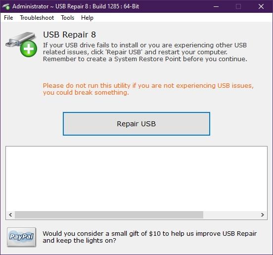 USB Repair 8.1.3.1285 - Reparar errores en dispositivos USB