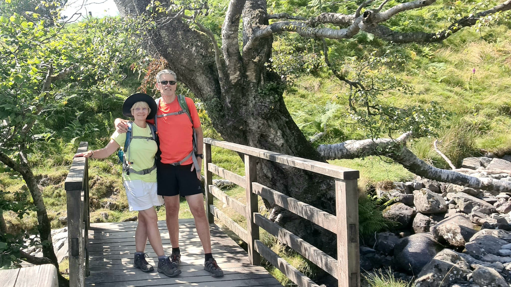 Is This Mutton bloggerr Gail Hanlon with husband on a hill walking holiday in the Lake District, north of England