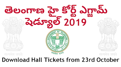 Telangana High Court Hall tickets/ Admit card download jr assistant 2019