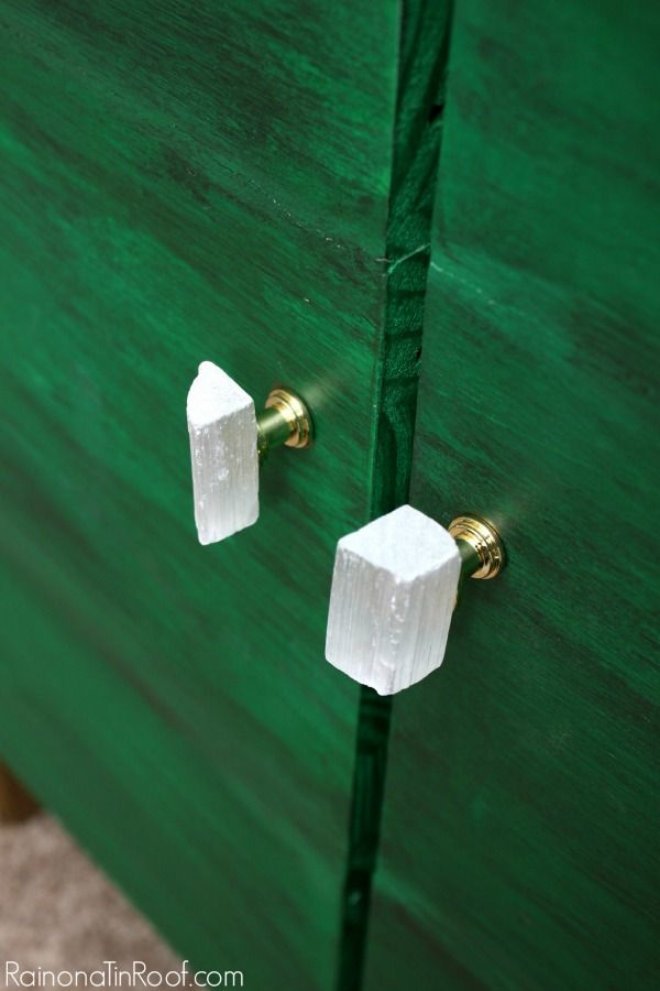 DIY Selenite Knobs - Rain on a Tin Roof