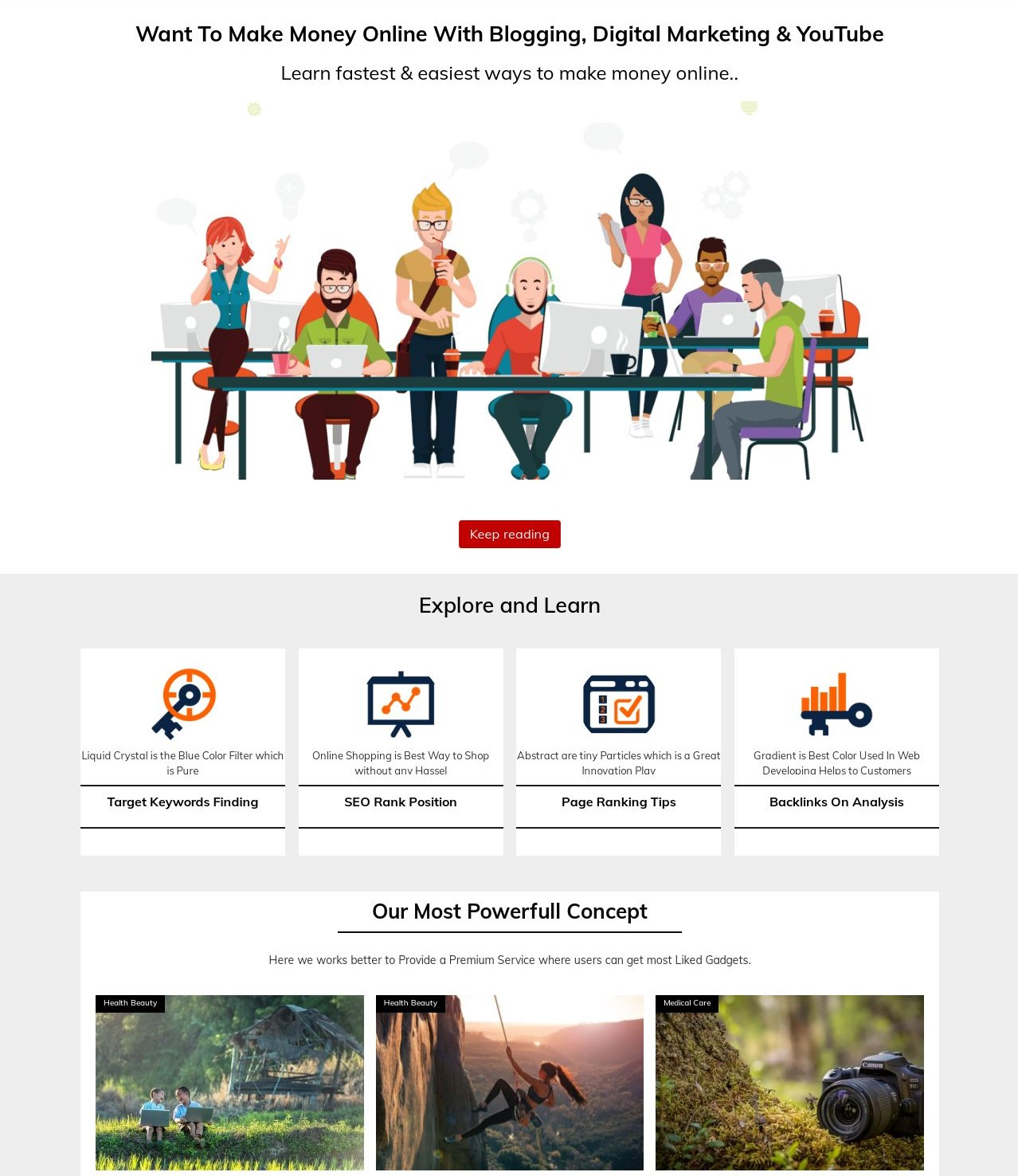 BLighter  Blog And Responsive Blogger Template