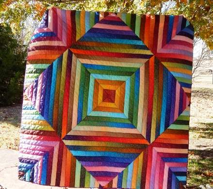 Simply Sparkly Quilt designed by Kay Koeper Sorensen of Quilts Plus Color for Robert Kaufman