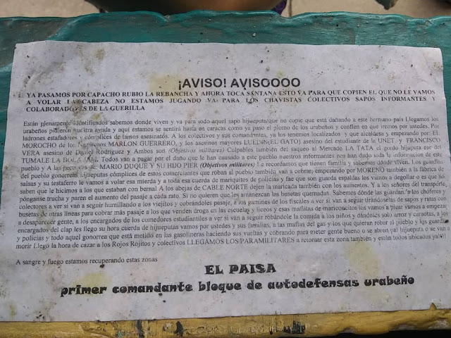FRONTERA: FundaRedes exige actuación de organismos de seguridad frente a panfletos amenazantes en Táchira.