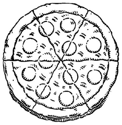 Gambar Mewarnai Pizza - 4