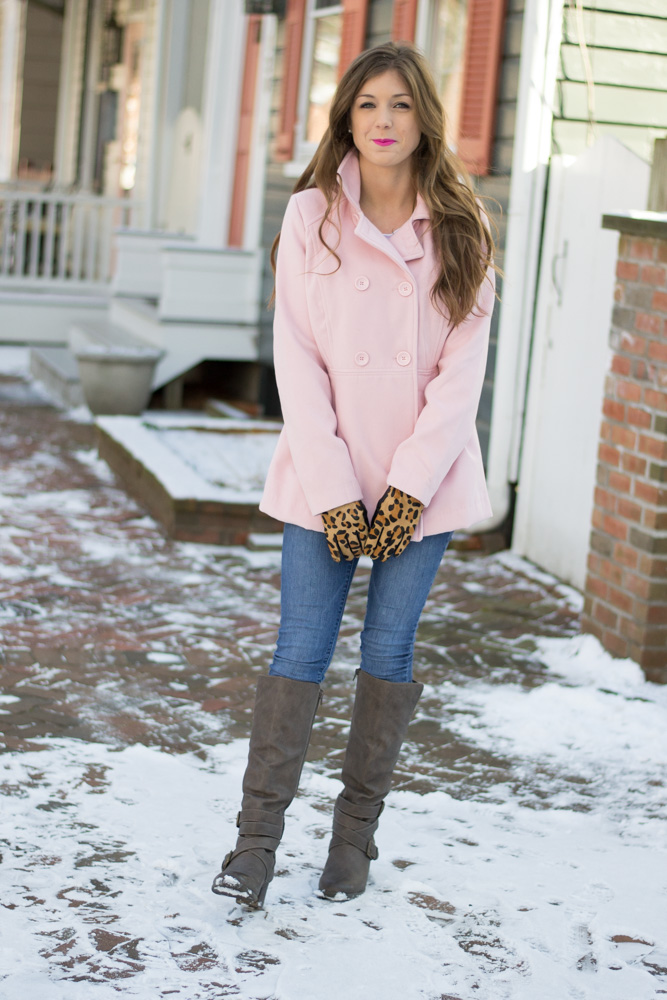 Pale pink and leopard print