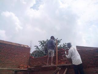 Pemasangan dinding bata