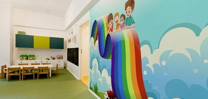 Children's decor with wall paintings 1