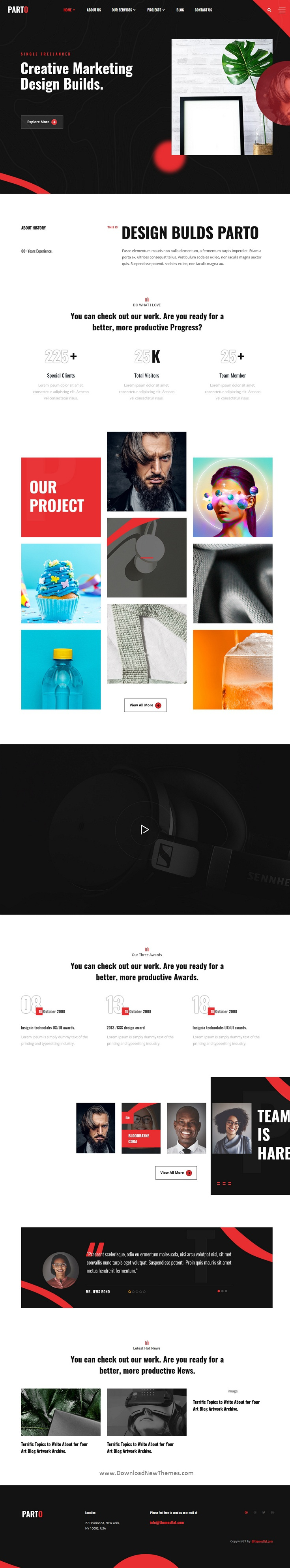 Creative Personal Portfolio Elementor Template Kit