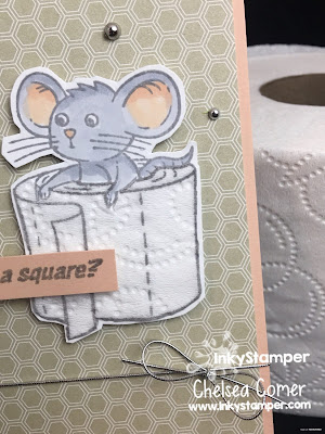 Stamping and paper piecing of Toilet Paper