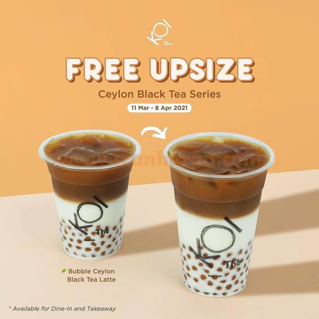 KOI Thé Promo special free UPSIZE promotion for Ceylon Black Tea Series 1