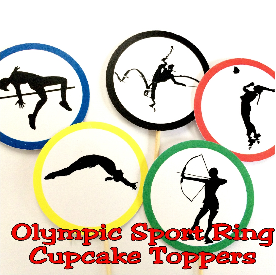 Olympic Sport Ring Cupcake Topper Printable