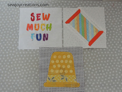 completed first 3 blocks Sew Much Fun tour
