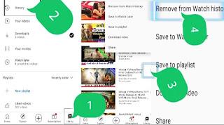 YouTube history delete