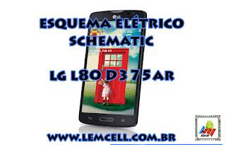 Esquema Elétrico Celular Smartphone LG L80 D375 AR Manual de Serviço  Service Manual schematic Diagram Cell Phone Smartphone LG L80 D375 AR
