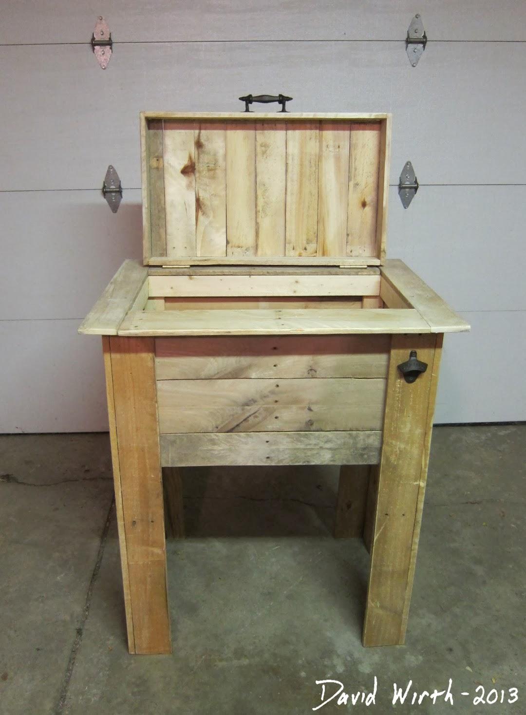 Wood Patio Cooler Plans: Rustic Outdoor Cooler Stand